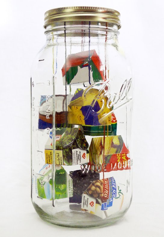 """Larder"" by Lisa Dahl, from ""The Jar Project,"" in the former Whitney Art Works."