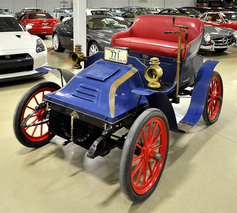 The 1902 Autocar shines at the Portland Motor Club, where it was recently moved from a Biddeford garage where it was stored for nearly 20 years.