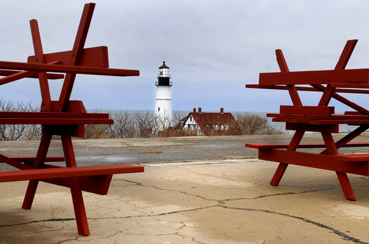 In this spring 2009 file photo, Cape Elizabeth's Fort Williams Park awaits preparations for the influx of tourists.
