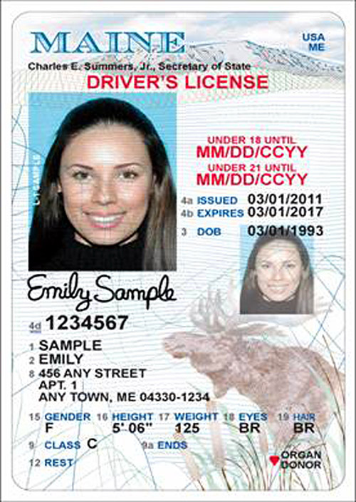 The new design for the Maine State Driver's License and State ID will have a vertical license for people under 21.