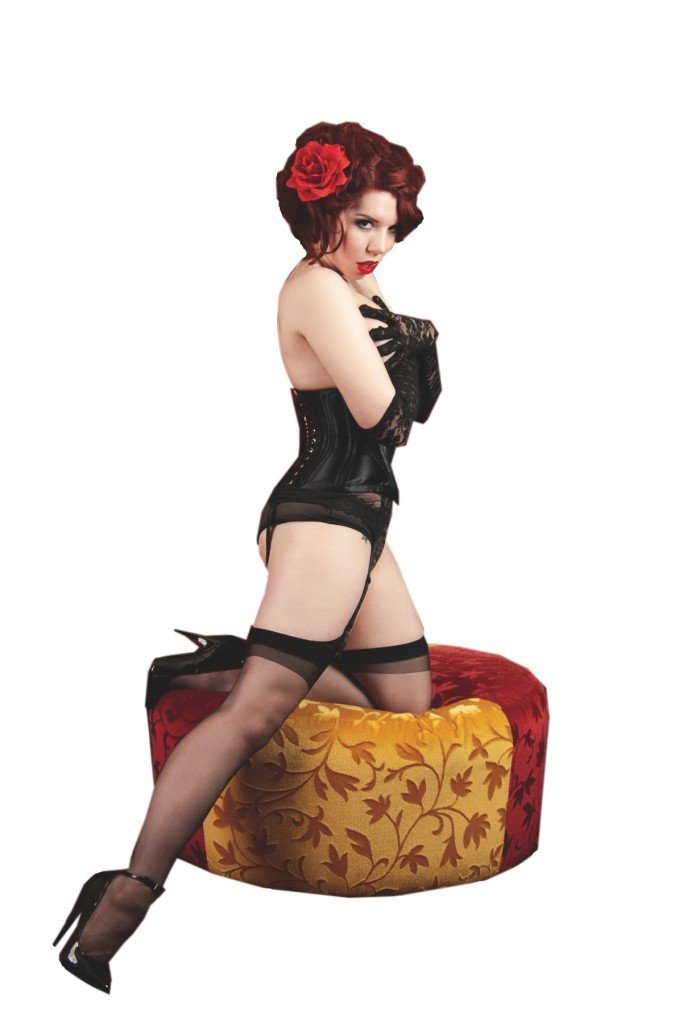 Ludella Hahn, a Portland burlesque dancer and pinup model.