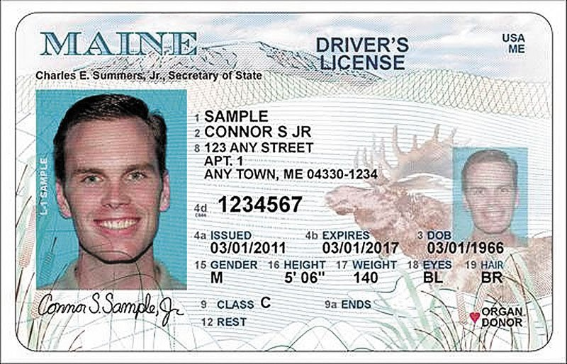 The new design for the Maine State Driver's License.