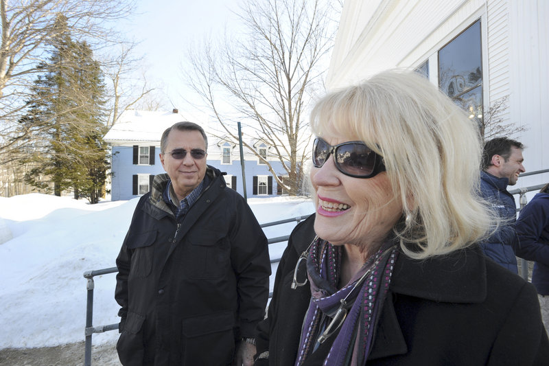 "Gary and Maggie Burhite said Tuesday they voted against the bans on chain stores in Bridgton. ""I'm afraid it's going to discourage people from investing in Bridgton,"" Maggie Burhite said."