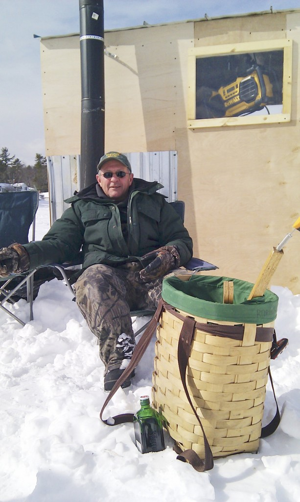 Jaime Meservey of Burnham thinks there probably is a state record togue in Sebago.