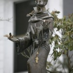 A statue of St. Francis of Assisi stands at St. Francis of Assisi Catholic Church in Minersville, Pa. Parishioners persuaded a Vatican panel to overturn a bishop's decision to shut the church.