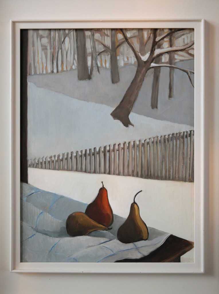 """""""Pears and Pickets,"""" by Jerry Day Mason."""