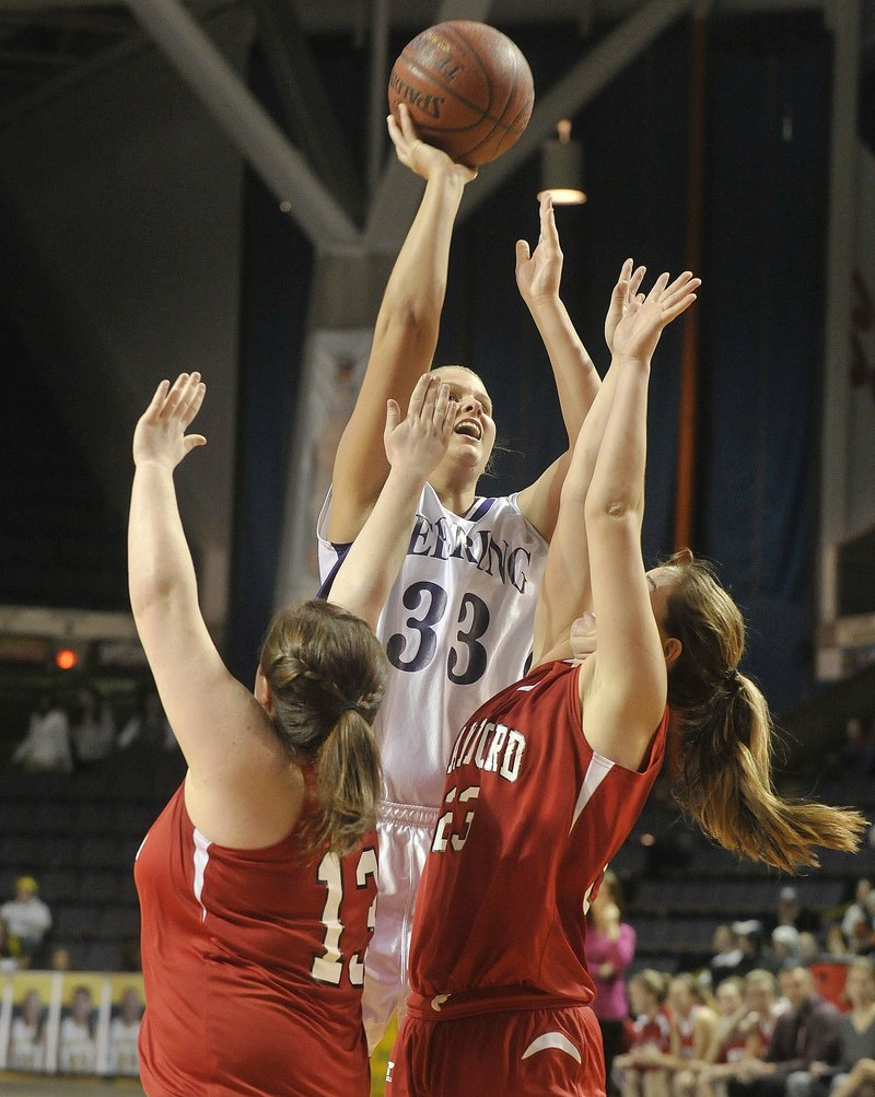 Kayla Burchill of Deering, who will be heading to the University of Vermont in the fall, rose above the field this season and earned the title of Miss Basketball.