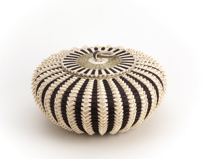 """Jeremy Frey won best of show for his """"Pointy Urchin"""" at the Heard Museum Guild Indian Fair & Market in Phoenix."""