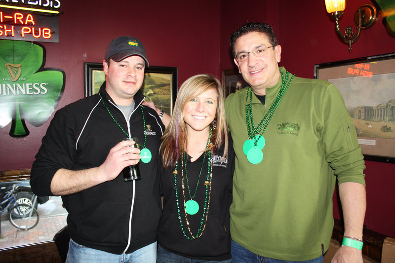 the volunteer live auction team, which included Brian DeVinney of Nappi Distributors, Vanessa Lins of Shipyard Brewing and Paul Sottery of Shipyard Brewing.