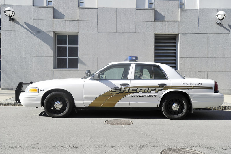 Maine police departments must find replacements for the Ford Crown Victoria, like the one above owned by the Cumberland County Sheriff's Department. One option is the Dodge Charger, such as the ones below used by U.S. Customs and Border Protection officers.