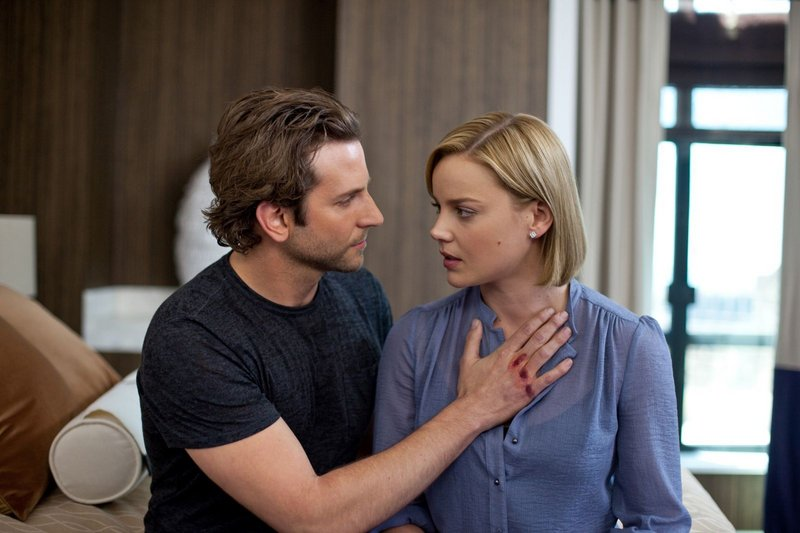 Bradley Cooper and Abbie Cornish in a scene from the thriller