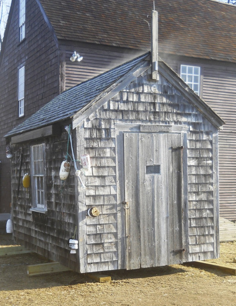An iconic shack from the John Hancock Wharf will be auctioned to support the facility's use as working waterfront. The Museums of Old York will take bids between now and April 8 and will sell the shack to the highest bidder.