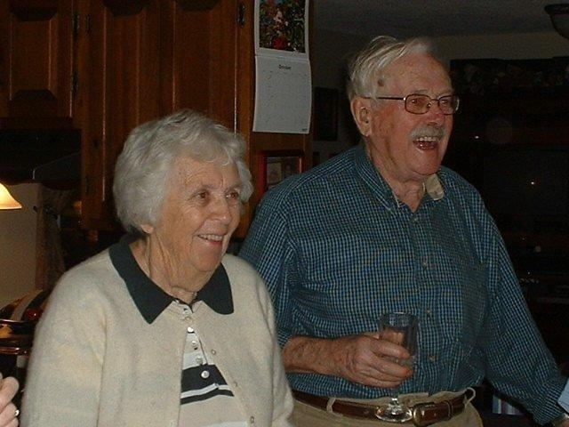 George and Jean Keef, shown at a party in 2007, were married for 66 years.They met on Spednic Lake near the Canadian border when she was 13 and he was 15.