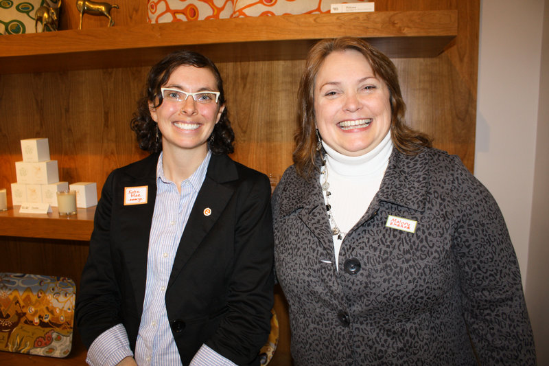 Katie Mae Simpson, director of Emerge Maine, and Malory Shaughnessy, who serves on the board of directors.
