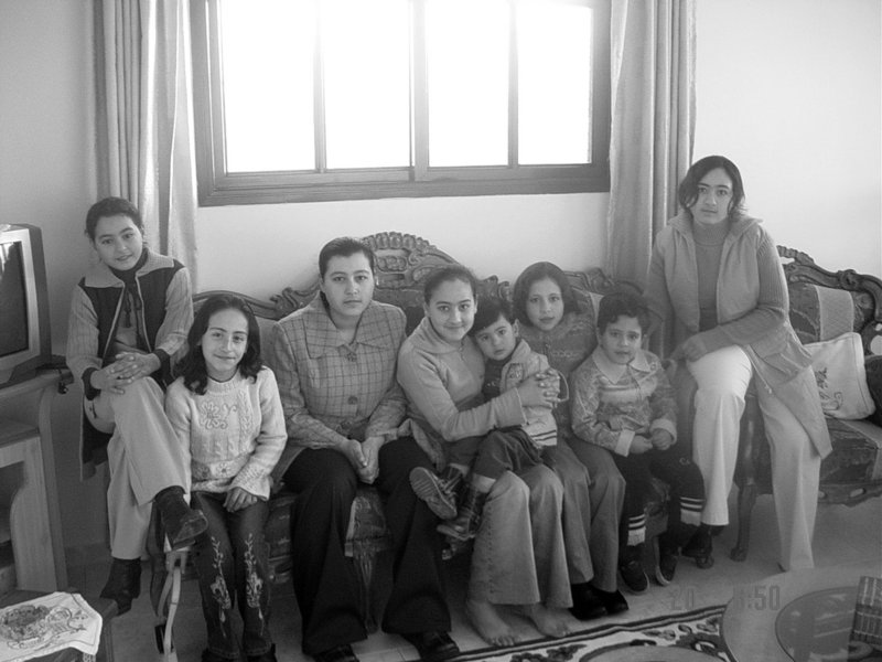 "From left in this undated photo are Mayar, Etimad, Bessan, Shatha, Abdullah, Aya, Raffah, and Dalal Abuelaish. Three of Dr. Izzeldin Abuelaish's children. sisters Mayar, Bessan and Aya, died when an Israeli tank shell hit the family's home in Gaza in January 2009. He writes: ""If I could know that my daughters were the last sacrifice on the road to peace ... then I would accept their loss."""