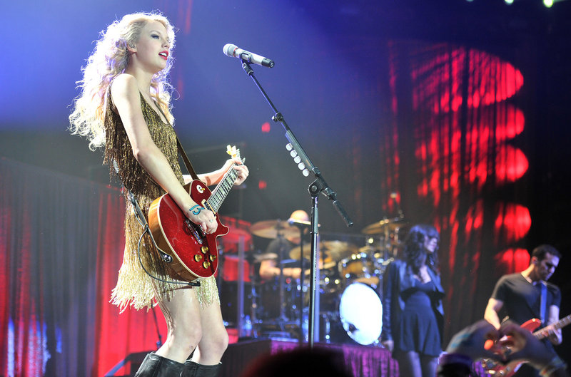Taylor Swift performs at London's O2 Arena on Wednesday, the last night of her European tour.