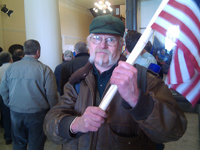 """John Clarke, a tea party activist from Monmouth: """"We need common-sense fiscal responsibility."""""""