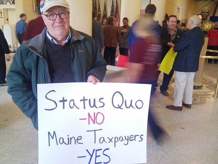 """Bill Hamilton, a retired sales executive from Standish: """"We need to get government under control."""""""