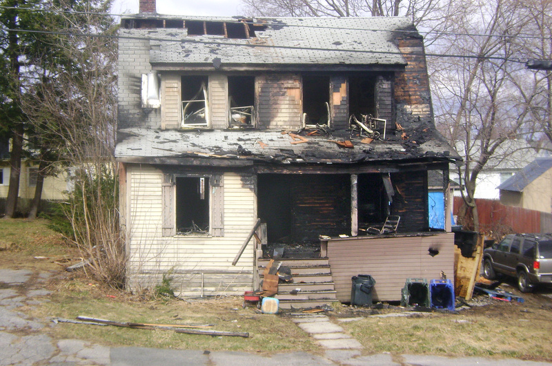 Officials blame an electrical cord that powered a space heater for the fire that destroyed this home at 133 Central St. in Westbrook on Sunday night.