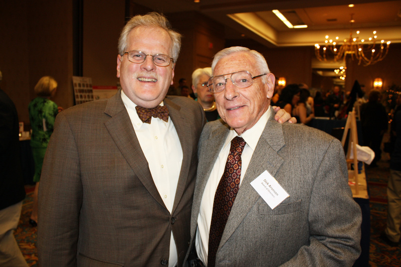 Spring Harbor Hospital CEO Dennis King and board member Dick Aronson, who owns Century Tire, at the Heroes with Heart awards dinner. The annual event honors Trauma Intervention Program volunteers and police, fire and medical professionals.