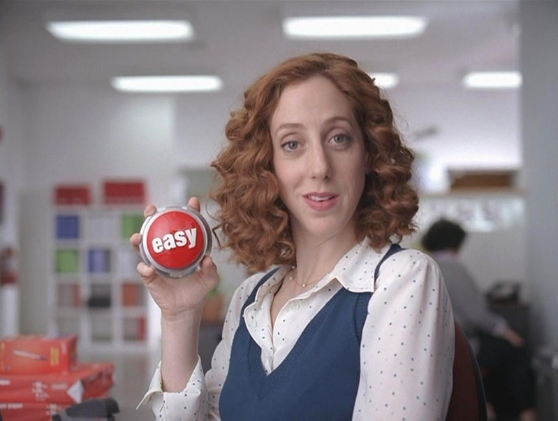 Alison Cimmet appeared last year in three national TV advertising campaigns, including for Staples.
