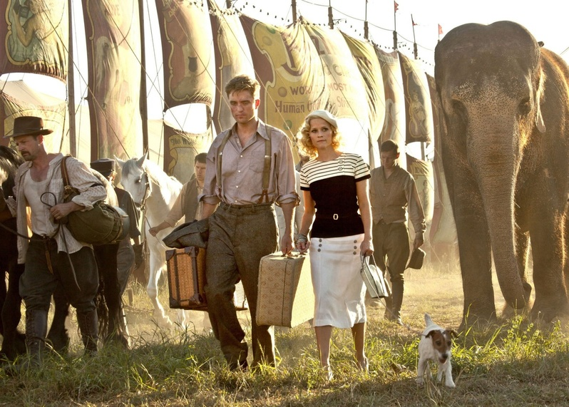 "Reese Witherspoon, with co-star Robert Pattinson, summoned up the nerve to ride Tai, the 9-ton elephant, without a harness. ""It was pretty great."""