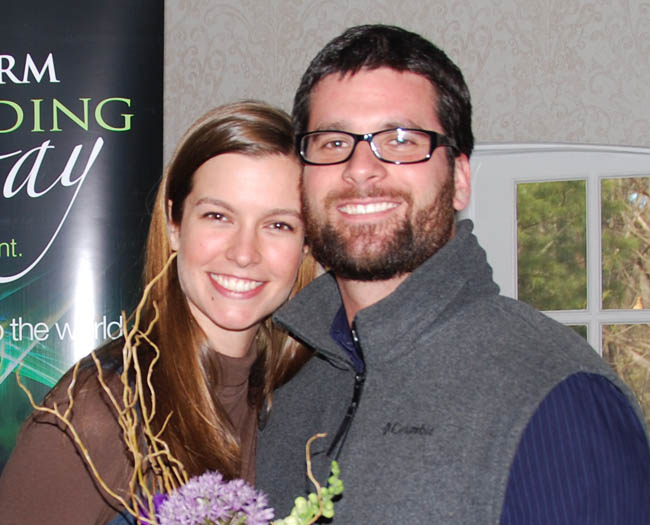 Wiscasset native Amy Watson and fiance Douglas Figueiredo, the grand prize winners.
