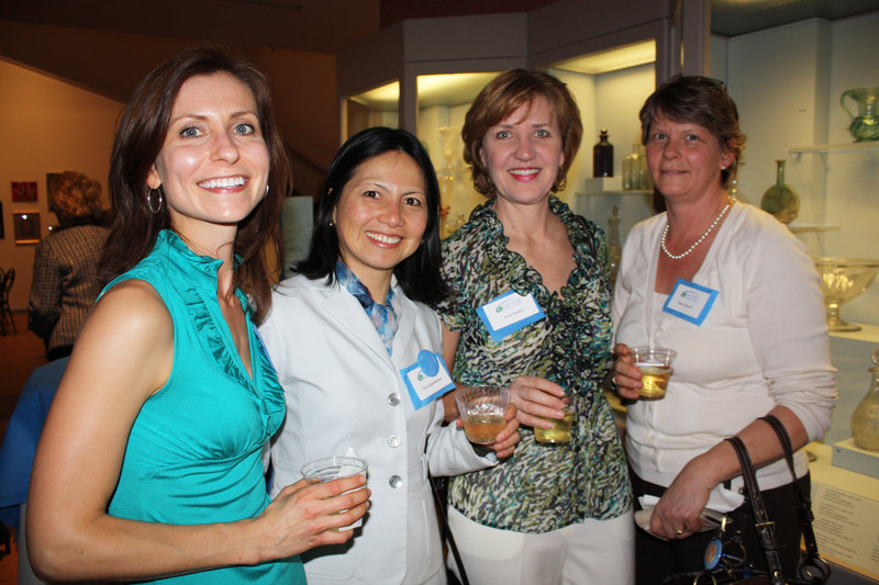 Melissa Hodroff of Portland, Tak Suppasettawat of Cape Elizabeth, Anne Boehm of Portland and Karen Esposito of Gorham.