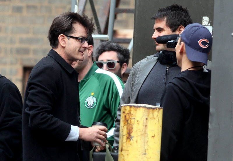 Charlie Sheen greets fans Saturday in Detroit, where he kicked off a 20-city, month-long variety show tour.