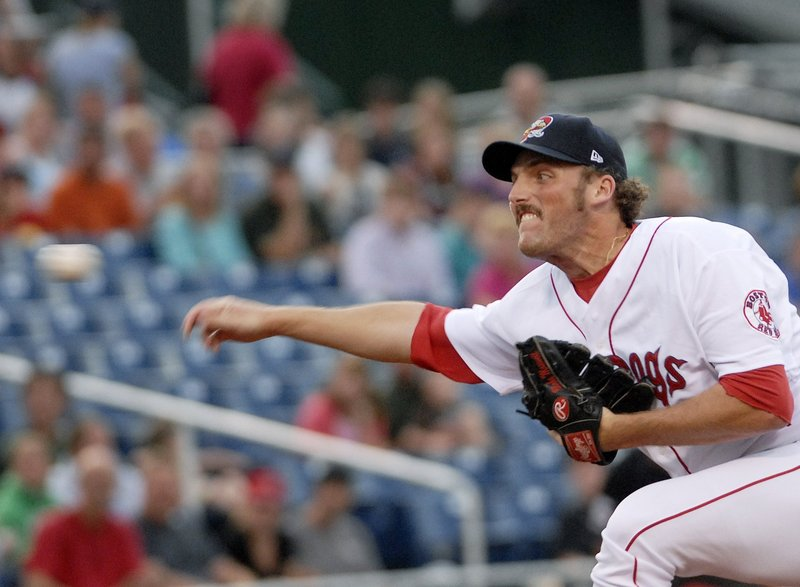 Blake Maxwell went 7-0 with a 2.61 ERA with the Sea Dogs last season. He got to pitch in five Red Sox spring training games.
