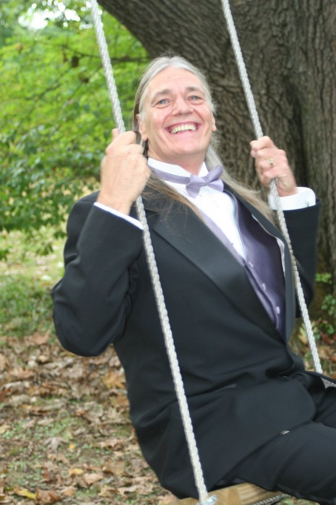 Leo Lunser, also known as Peacefreak, at his best friend's wedding four years ago.
