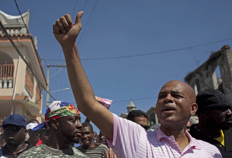 "Michel ""Sweet Micky"" Martelly, 50, a star of the Haitian musical genre known as compas, easily defeated a former first lady in March's presidential vote, early results indicate."