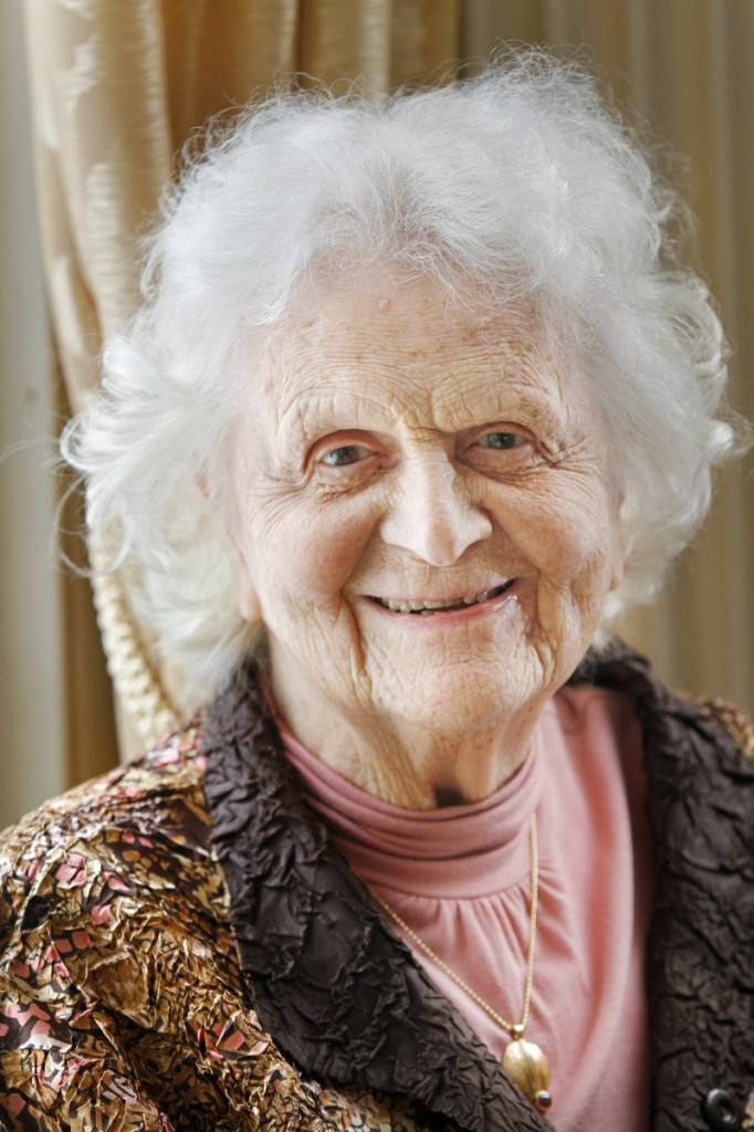 Elsie Viles, 96, makes some donations on her own and others via the foundation started by her and her late husband, a timber and paper company owner.