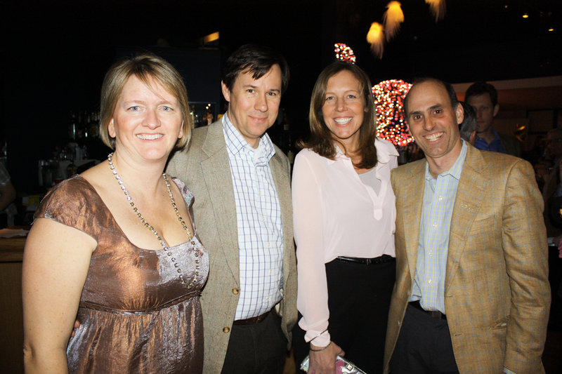 Kristen and Bob Farnham and Hilary Robbins and Bill Goodman at the Port City Music Hall party.