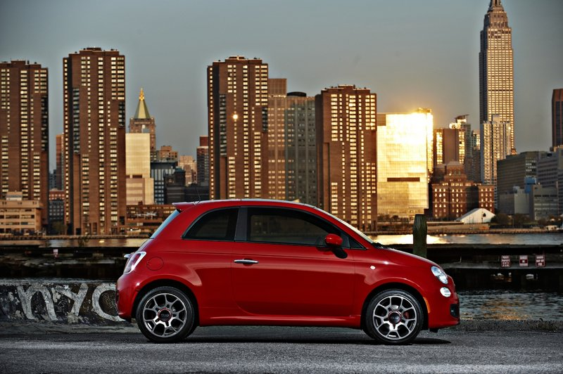 The Fiat 500 is designed to compete against the Mini, and should handle the job well. It is cute, fuel efficient, peppy and attracts a lot of attention on the road.