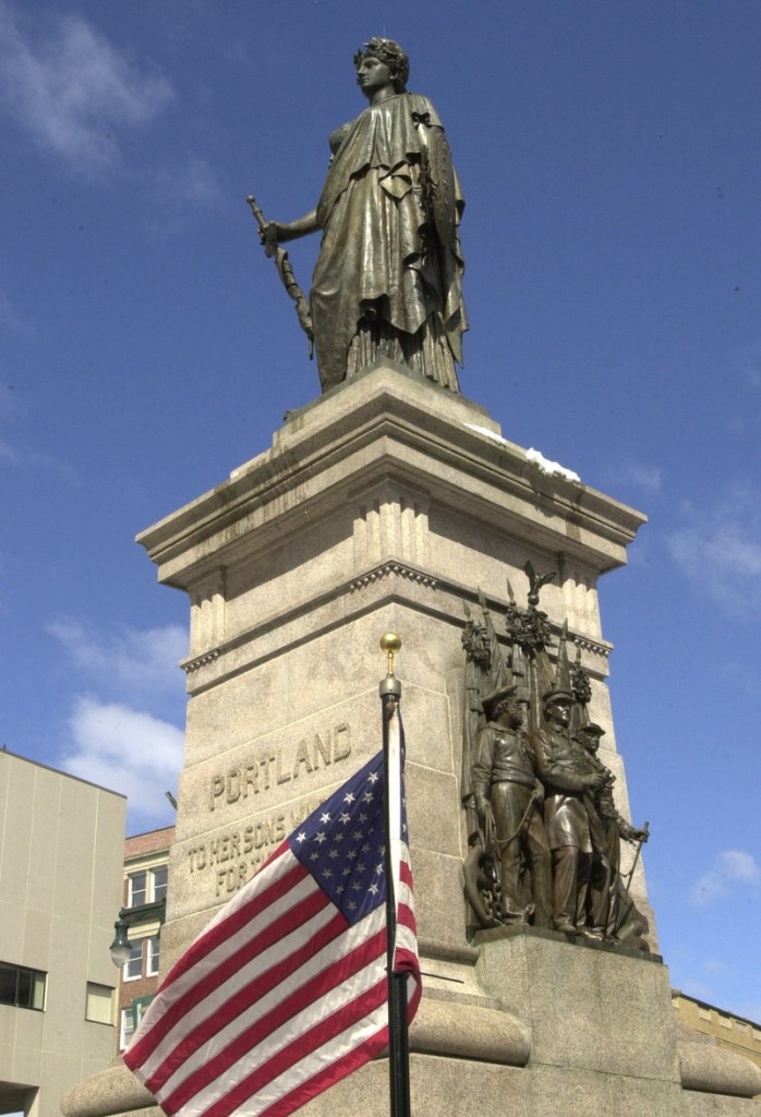 Monuments such as the one in Monument Square in Portland pay fitting tribute to the Mainers who died in the Civil War.