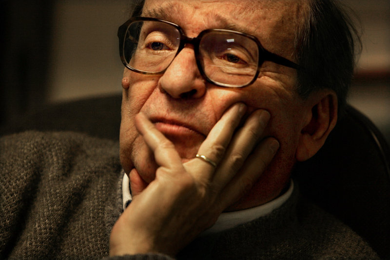 Director Sidney Lumet is shown during a 2006 interview in his New York office. Lumet died Saturday in Manhattan at age 86.