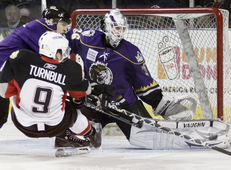 Travis Turnbull of the Pirates plays a physical brand of hockey that is a welcome addition for the team as it begins its playoff series this week with the Connecticut Whale.