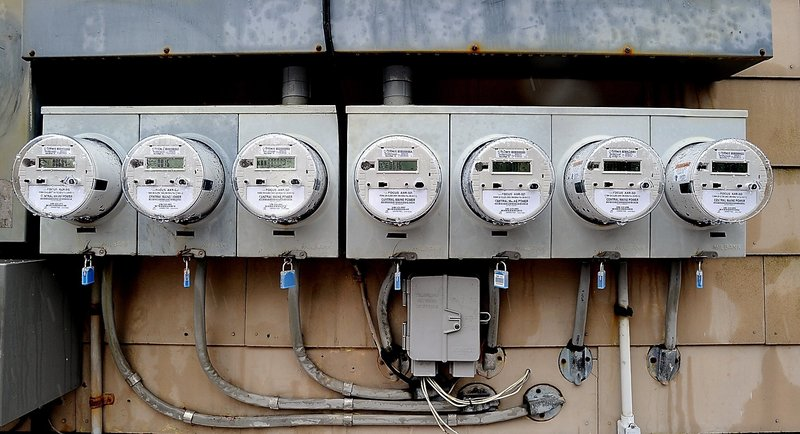 CMP intends to replace 600,000 mechanical meters like these with wireless digital meters in a $200 million project.