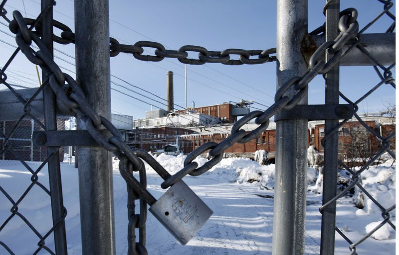 This March 8, 2011, photo shows the paper mill in Millinocket, which has been idle since 2008.