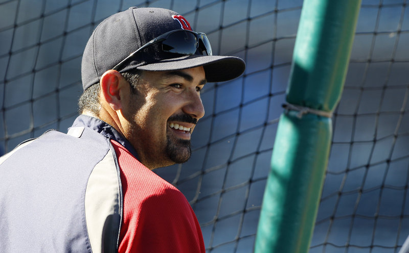Adrian Gonzalez said the Boston Red Sox are disappointed by the start to the season, but he expects the team to be in the middle of the pennant race in September.
