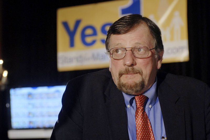 """Marc Mutty, shown on Election Day 2009, says he has regrets about how the fight to repeal Maine's same-sex marriage law was won. """"I would never do this again ... I personally could not do it,"""" he said."""