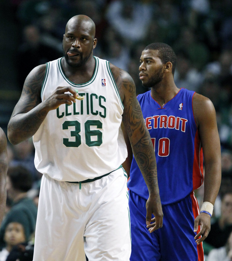Shaquille O'Neal, who played for Knicks Coach Mike D'Antoni in the playoffs three years ago with the Phoenix Suns, has a calf injury that's located in an area that's tough to treat.