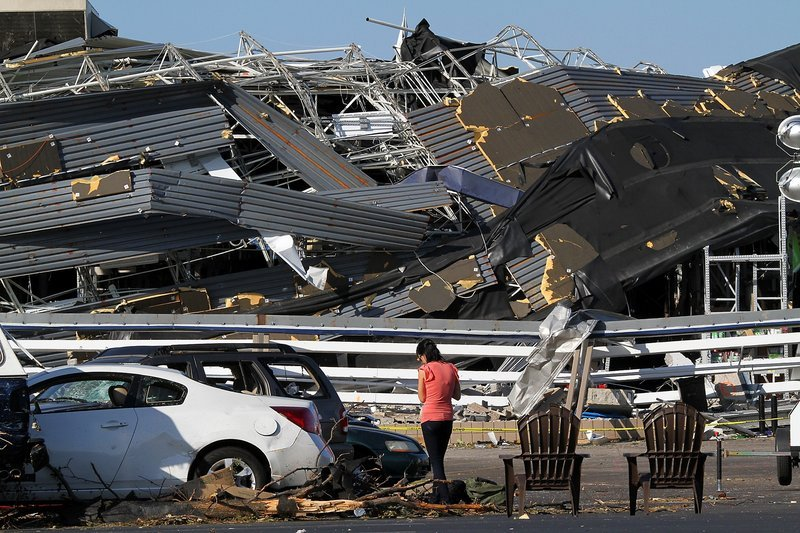 A Lowe's store in Sanford, N.C., was destroyed.