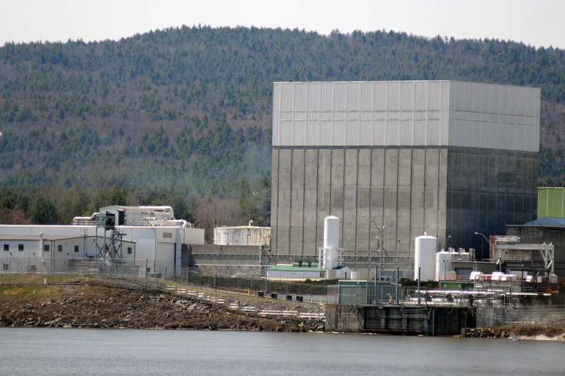 The Vermont Yankee nuclear power plant on the banks of the Connecticut River in Vernon, Vt., is at the center of a lawsuit against the state filed by its owners Monday.