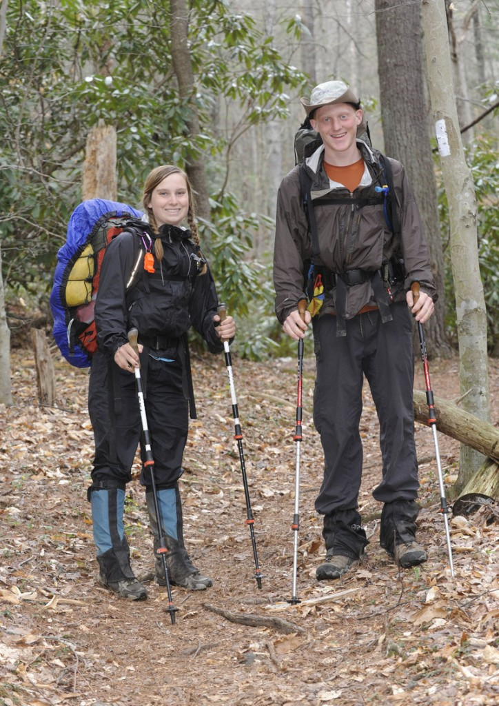 Kasi Quinn and Kyle King, students at Emory & Henry College in Virginia, are hiking the Appalachian Trail as part of the college's Semester-A-Trail program.
