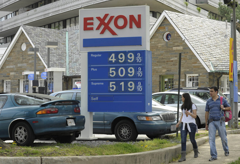 Gas prices have climbed above an average of $4 a gallon in six states, with pump prices hitting $5 a gallon (above) at some stations in Washington, D.C. The price of crude oil rose above $111 a barrel Wednesday as the dollar weakened and the government reported an unexpected drop in U.S. crude supplies.