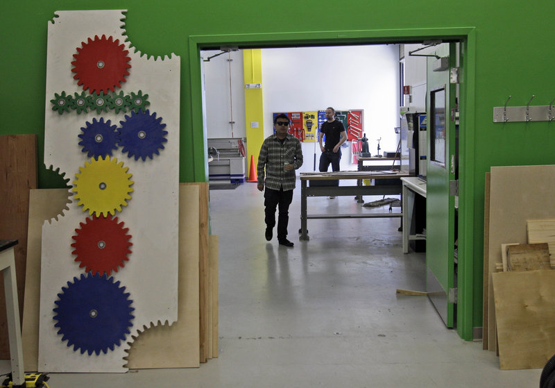 Google has built high-tech workshops to spark the verve and creativity of a garage-bound entrepreneur in its employees. The workshops are open only to a privileged few – about 300 – of Google's 26,300 employees.