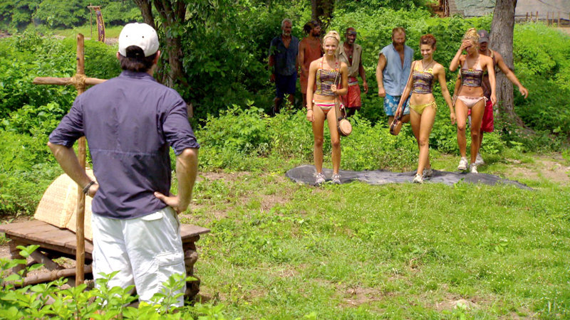 "Ashley Underwood of Maine, right, appears Wednesday on the 11th episode of ""Survivor: Redemption Island."" She seems to be in a good position to make it into the May 15 season finale. Eight competitors are expected to be in the final two-hour episode."