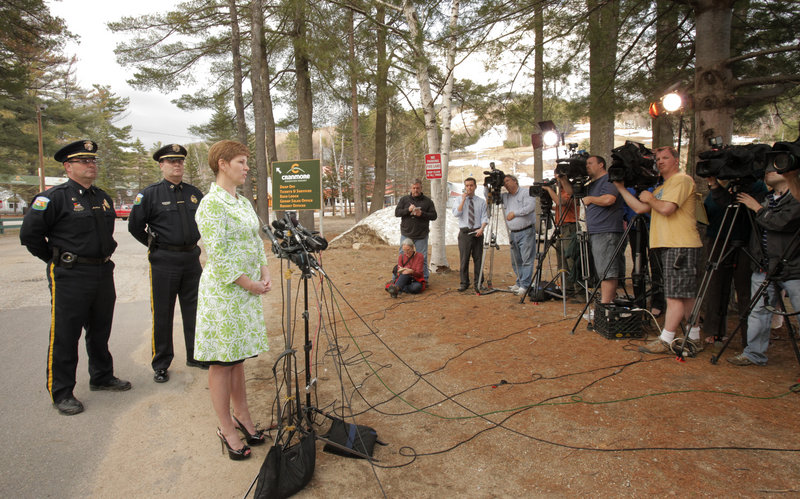 During a press conference on Wednesday, N.H. Assistant Attorney General Jane Young confirms that Krista Dittmeyer's body was found in a snowmaking pond at the Cranmore Mountain Resort in North Conway.